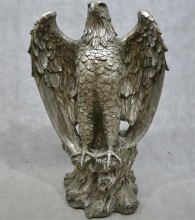 Factory good price fiberglass eagle statue, life size animal eagle sculpture for sale