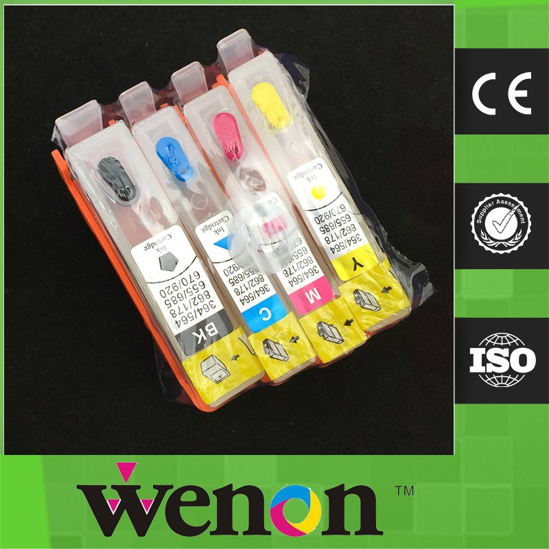 refillable ink cartridge for hp 655 with chip