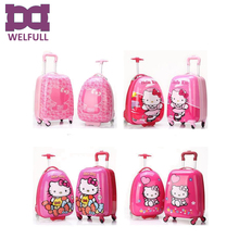 18 inch hello kitty school bag trolley suitcase for girls