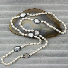 CH-JBN0117 natural freshwater pearl bead knot necklace,fashion pearl necklace,wholesale handmade bead long necklace jewelry