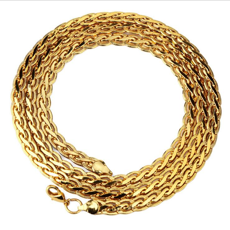 Latest New Gold Artificial Jewelry Chain Designs For Men