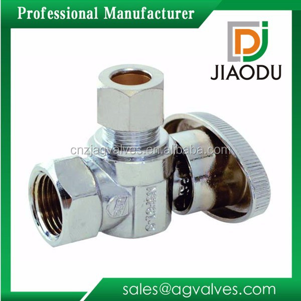 wholesale trade price good price cw614n brass 1/2''brass sink water toilet shut off valve
