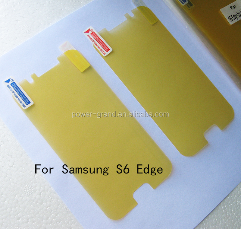 High quality imported Soft TPU FULL Screen protector film for Samsung Galaxy S6 Edge