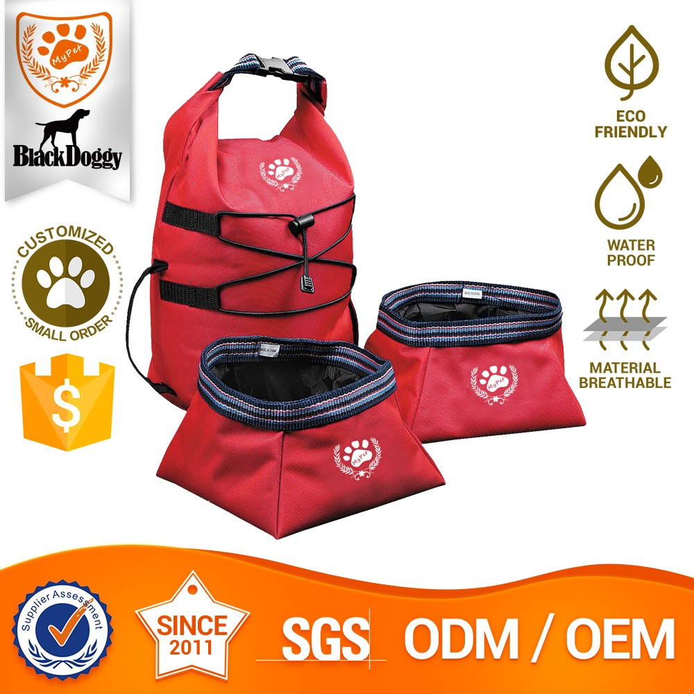 Customized OEM Water Non Spill Dog Collapsible Bowl Dog Travel Supplier