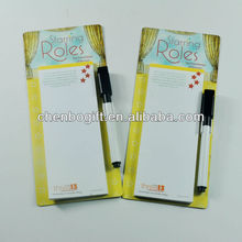 Custom Magnetic memo pad for fridge , promotion gift magnetic sticky note, magnetic shopping list note pad
