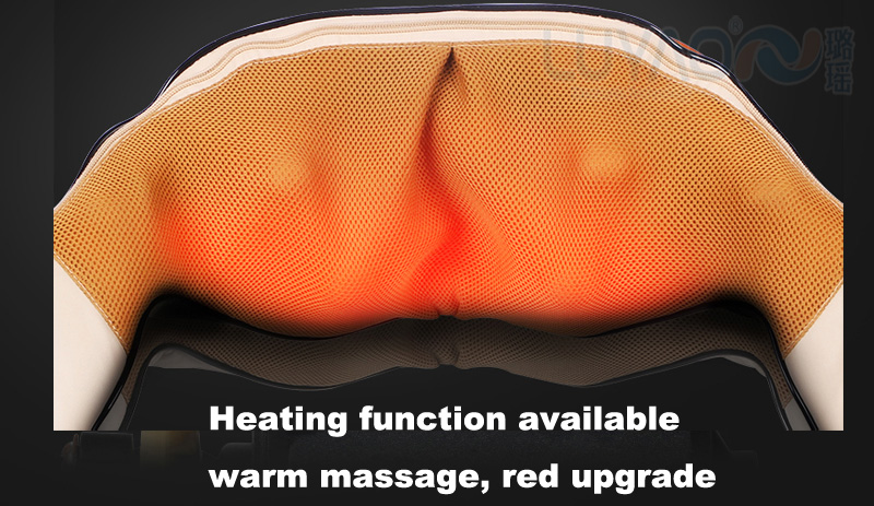 FDA Healax Wrap Kneading Electric Heated Infrared Shiatsu Back Neck Shoulder Massager with heat