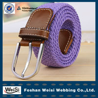 OEM Fashion High Quality Braided Belt With Pin Buckle And Real Leather