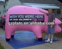 giant inflatable pig for advertisting
