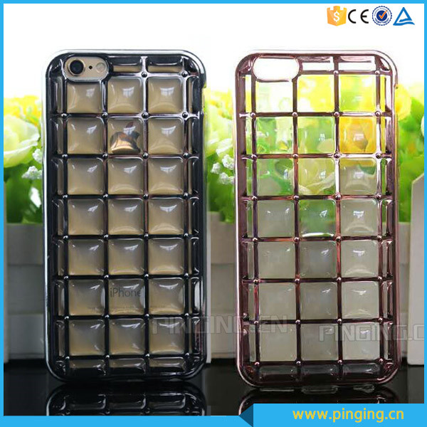 3D Plating Rubik Cube Phone Cover For Samsung Galaxy S4 Mini i9190 TPU Case