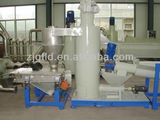 pet bottle flakes washing/dewatering line