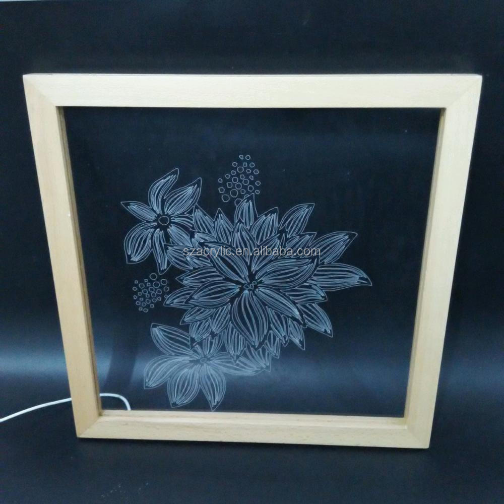 Creative clear acrylic 3D display frame LED display frame