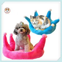Hot Sell Crown Pet Bed Cushion Soft Princess Crown Pet Bed