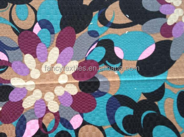 COTTON SPAN PIQUE PRINTED FABRIC 32*32+40D 208*74
