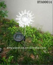 transparent plastic sunflower solar light for garden