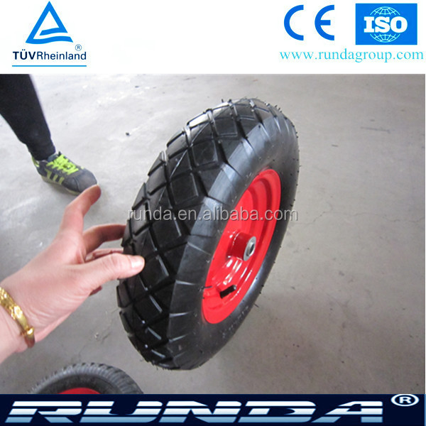 Heavy duty pneumatic 16 inch wheelbarrow rubber wheel