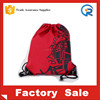 Custom silk printed 10OZ Red color cotton canvas drawstring bag for shopping