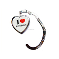 London heart shape bag hook folding bag purse hook handbag hanger holder