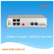 latest product e1 video 1-4channel video+4data digital video optical converter