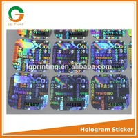 reflective hologram stickers serial number with faster delivery
