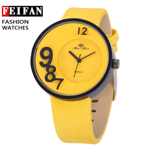 New Fashion Watches FeiFan Brand Leather Strap Particular Unisex Analog Clocks Dress Wristwatches Quartz Watches Reloj Hombre