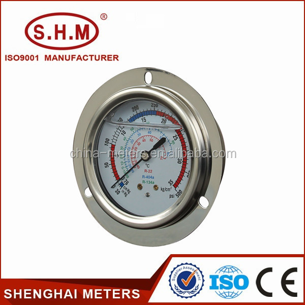 refrigeration manometer calibration pressure gauge