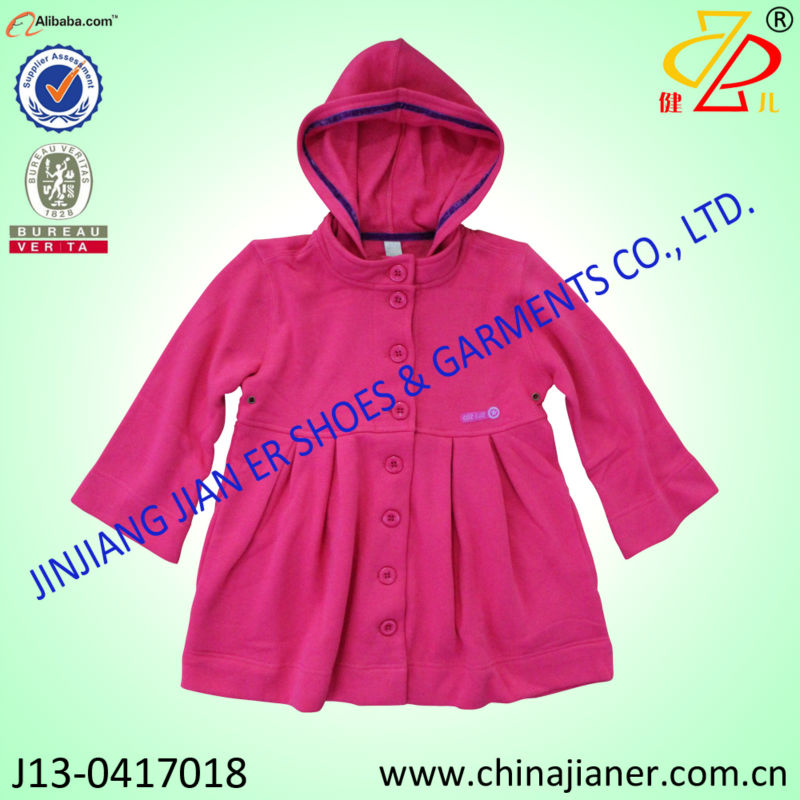 terry french girls coat kids jacket child outerwear for 2014 season