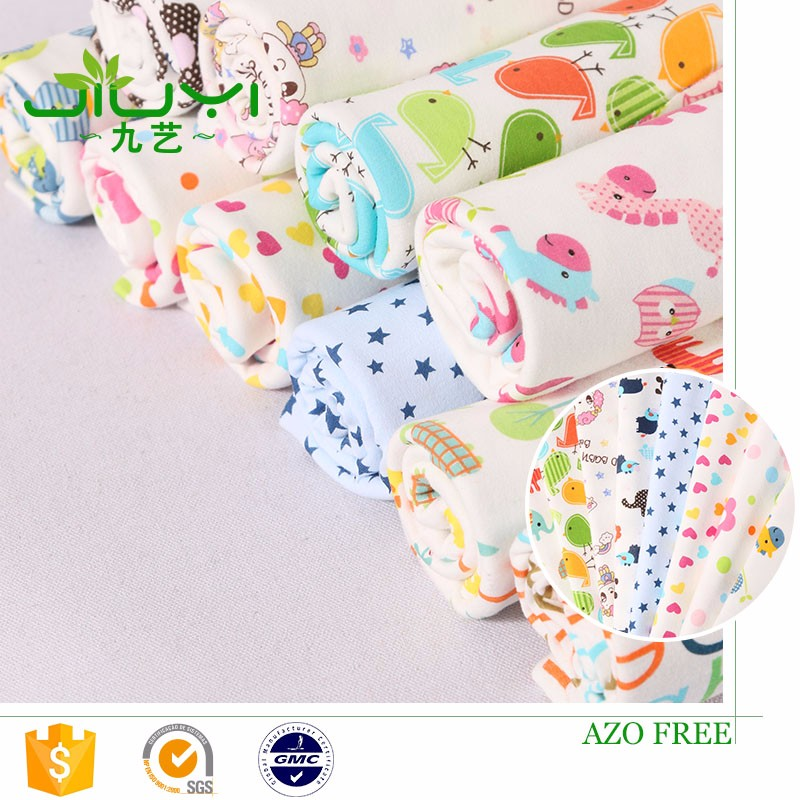 china supplier stock high quality cartoon this custom printed interlock 100 cotton fabric prices, 100 cotton fabrics
