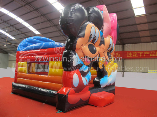 Cheap prices commercial adult Mickey Minnie mouse inflatable bouncy castle for sale