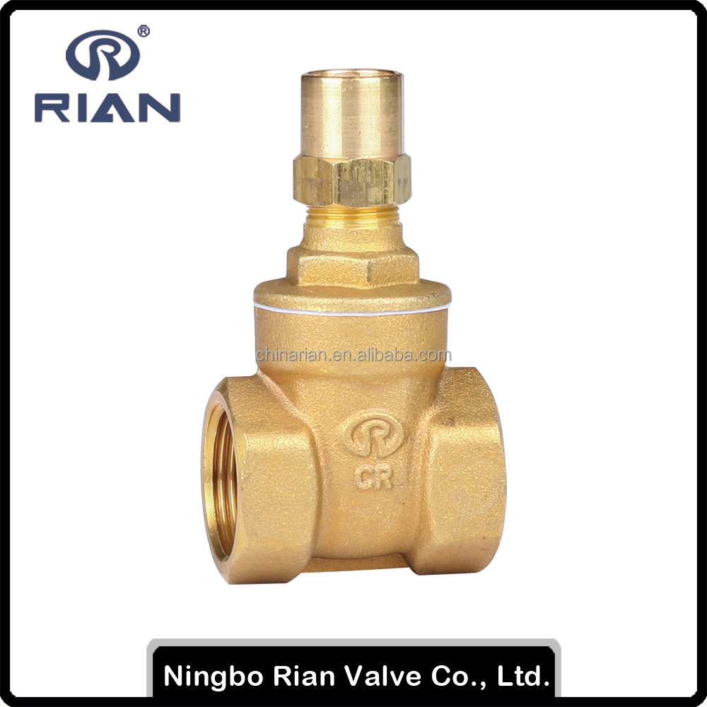PN20 Brass Gate Valve With Lock