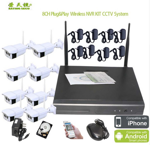 RTS cheap 960p NVR kit 8 channel HD Security Wireless Camera wifi nvr hd 8ch surveillance camera kits
