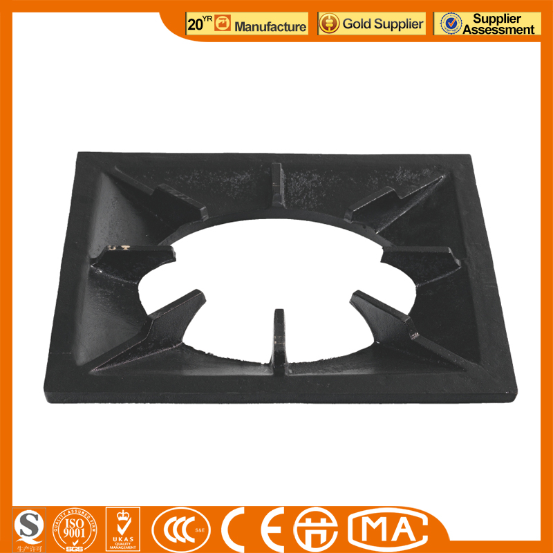 new desgin cast iron grate gas burner part bracket in gas range cast iron series