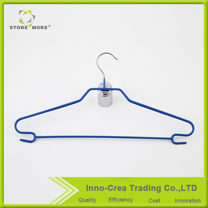 China Wholesale Store More / OEM Chrome Plating PVC Coating Plastic Coated Wire Hanger