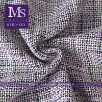 New wool/polyester tweed herringbone wool viscose blend fabric