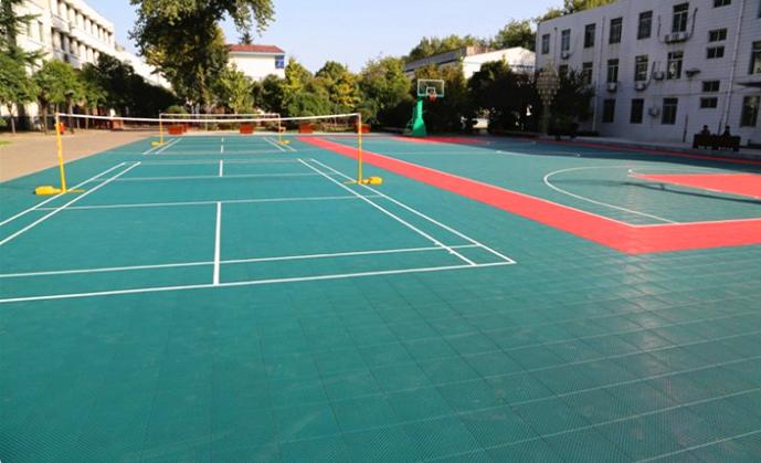 Eco friendly Plastic Floor Interlocking Sport Court Tiles