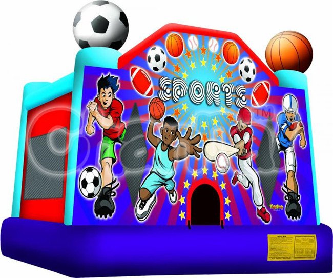 Factory price inflatabe football/basketball sport arena games bouncer hounse, inflatable adult baby bouncer for sale