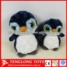 Lively and cute big eyed plush penguin toy