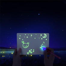 magic phosphorescence flashing toys New Product freeze light fluorescent drawing board for <strong>kids</strong>