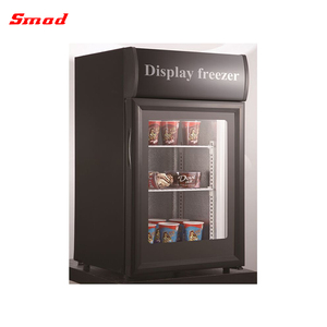 small glass door freezer front open mini display freezer for supermarket and convenient store