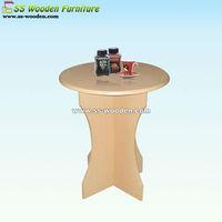 Wooden round oak veneer coffee table CT-606075