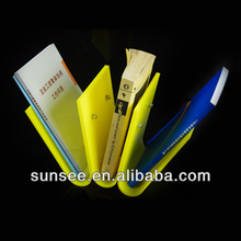 yellow home decorative acrylic book shelves wholesale