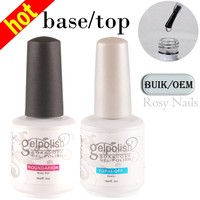ROSY professional led uv soka off gel builder top coat rubber base coat
