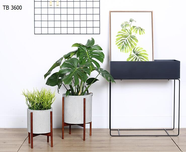 Indoor Planters Concrete Planter Pot With Modern Plant