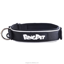 Wholesale OEM Custom Logo Name Neoprene Nylon Big Dog collars Pet products for Small & large dogs