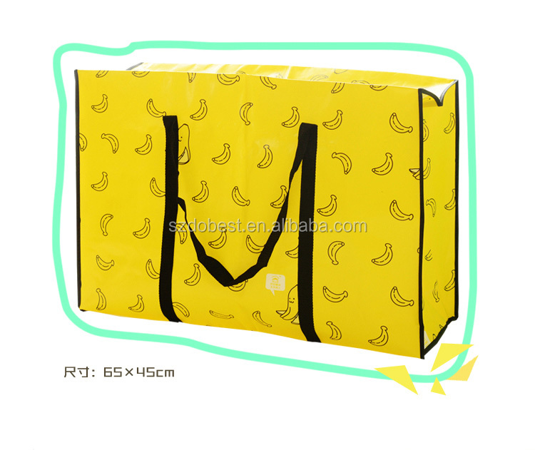 2016 Recyclable Eco Friendly Customized Logo Cheap Tote Pp Woven Shopping Bag