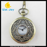 WJ-1607 2015 vintage retro erotic hollow classic cheap quartz pocket watches