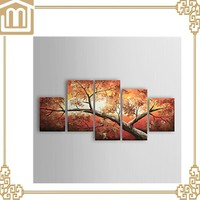 5 panel canvas art Hand-painted Landscape Oil Painting on canvas