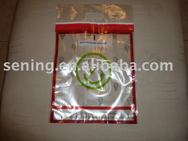 tamper evident bag with security tape
