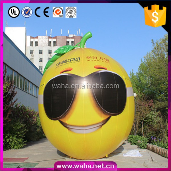 giant inflatable lemon/advertising promotion/customized inflatable food