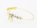 H794-350 new model hair accessories fancy luxury jeweled diamante bridal headbands with combs