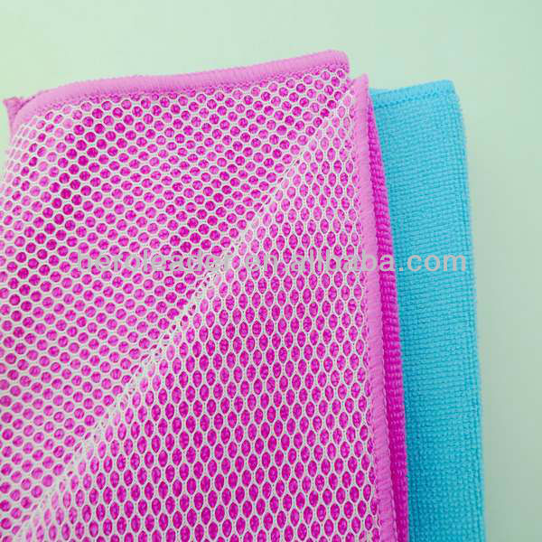 Microfiber Towel Washing Cloth With Mesh